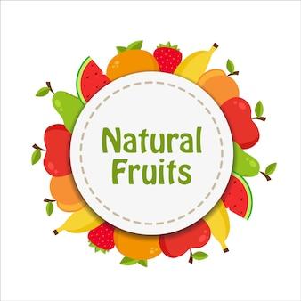 Konstrukcja owoce tle