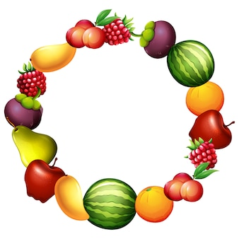 Konstrukcja ramy owoce