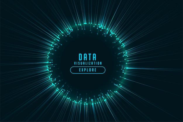 Konstrukcja ramy świecące promienie technologii cyfrowej