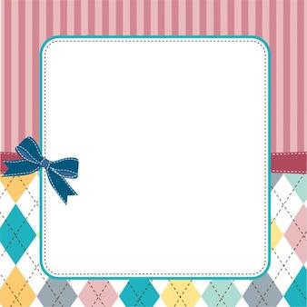 Konstrukcja ramy szablonu dla karty z pozdrowieniami