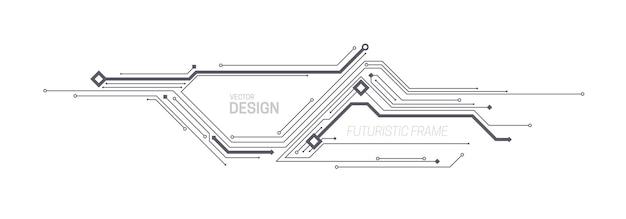 Konstrukcja ramy technologicznej z płytką drukowaną lub wzorem chipa
