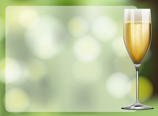 Konstrukcja ramy ze szkłem szampana