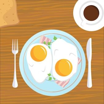 Konstrukcja śniadanie tle
