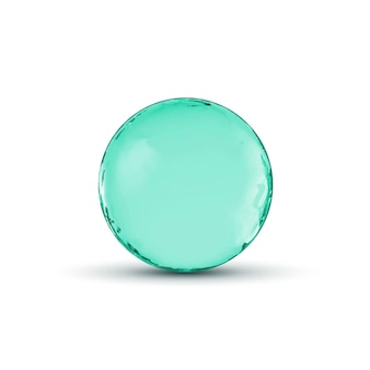 Konstrukcja szklanej kuli. błyszczący okrąg lub bańka z cieniem. streszczenie ilustracji.