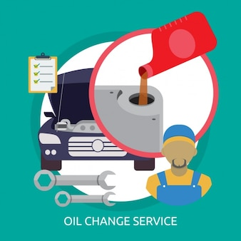 Konstrukcja usługi wymiany oleju