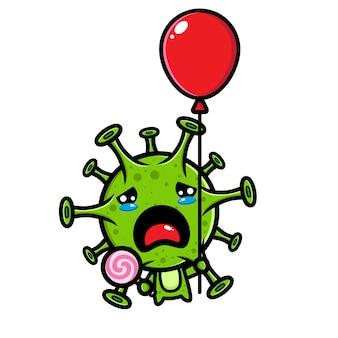 Konstrukcja wirusa latająca z balonami