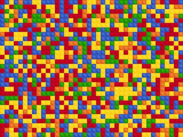 Konstruktor z tworzywa sztucznego wzór. kolorów tła abstrakcjonistyczni bloki matrycują płaskiego projekt.