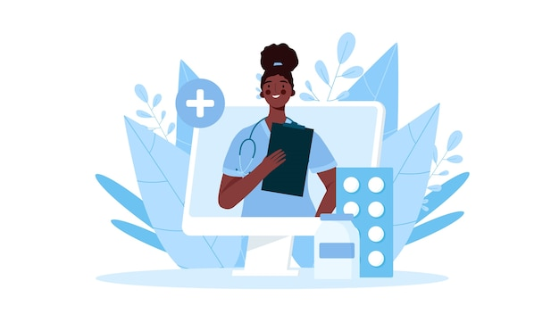 Konsultacja lekarska online w płaskiej konstrukcji