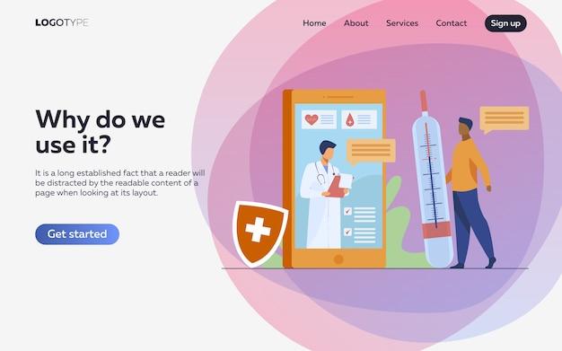 Konsultacja lekarza online za pośrednictwem smartfona