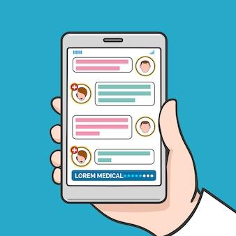 Konsultacja online lekarza smartfona