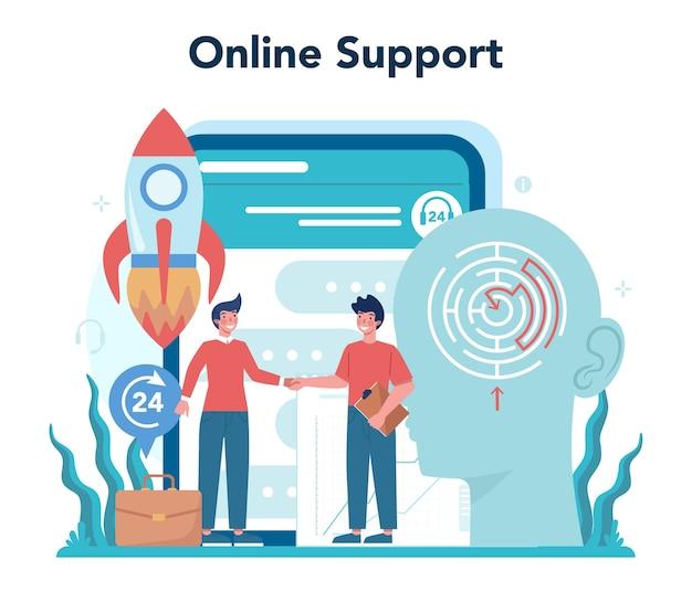 Konsultacje dotyczące usługi online lub ilustracji platformy