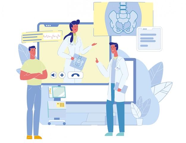 Konsultacje online pacjenta i konferencja medyczna