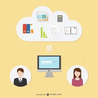 Konsultacji biznesu ilustracji