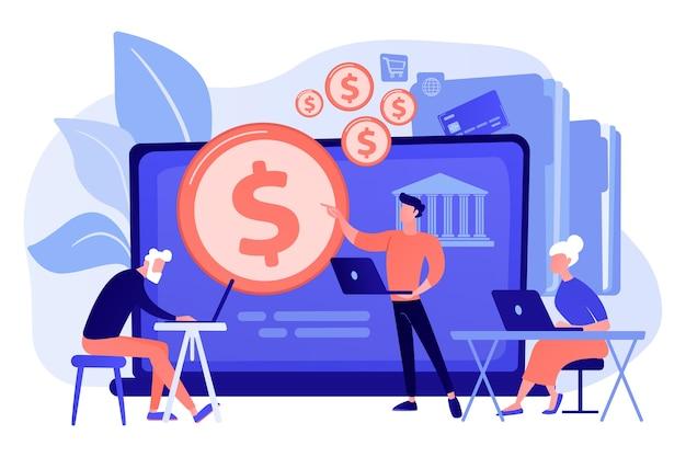 Konsultant finansowy obliczający fundusz emerytalny