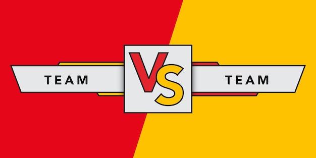 Kontra tło bitwy. vs nagłówek bitwy. rywalizacja pomiędzy zawodnikami, zawodnikami lub drużynami. ilustracja wektorowa.
