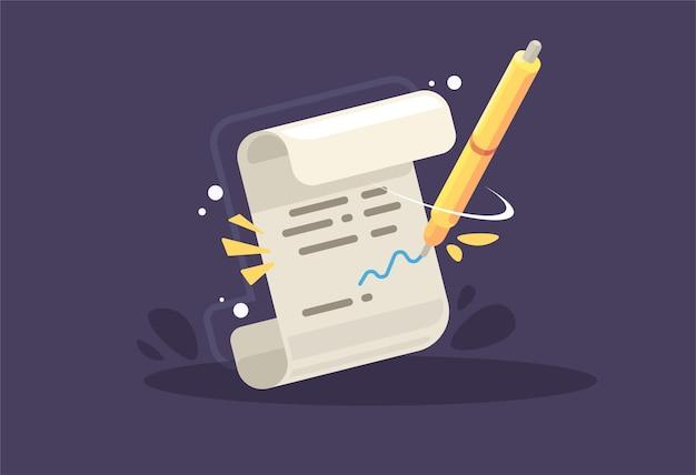 Kontrakt. podpisanie umowy, koncepcja biznesowa.