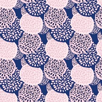 Kontrast losowe kropki koła wzór. niekończące się tło z różowo-niebieskim ornamentem geometrycznym.