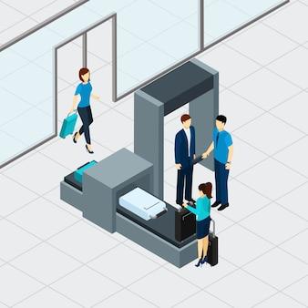 Kontrola bezpieczeństwa na lotnisku
