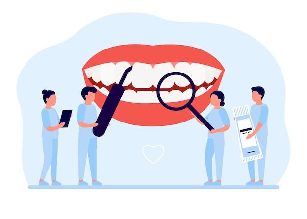 Kontrola czyszczenia i wybielania zębów u stomatologa higiena jamy ustnej profilaktyka chorób zębów