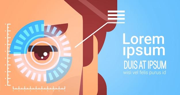 Kontrola dostępu do oczu retina system rozpoznawania twarzy męskiej technologia identyfikacji biometrycznej