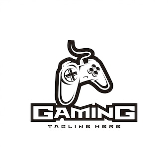 Kontroler gier i sportowe logo