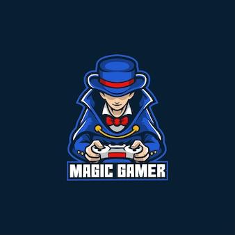 Kontroler gier magic gamer logo