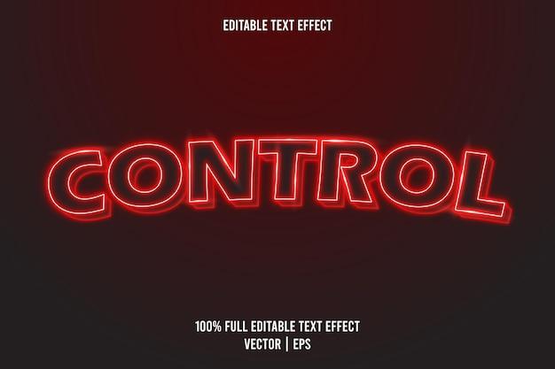 Kontroluj edytowalny styl neonu z efektem tekstowym