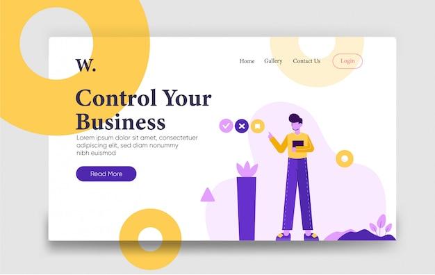 Kontroluj szablon strony docelowej firmy