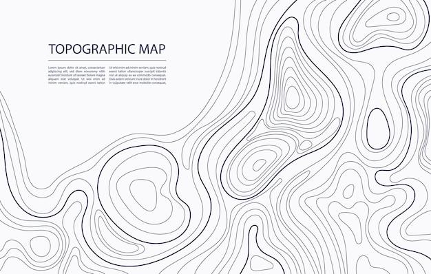 Kontur mapy topograficznej mapowanie geograficzne natura relief terenu abstrakcyjne tło