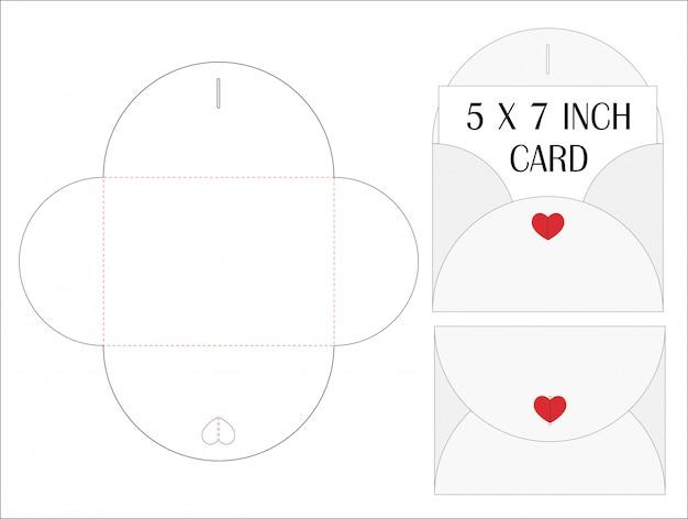 Koperta kostka do gry cięcie wytłacza wzory w górę szablonu wektoru ilustraci.