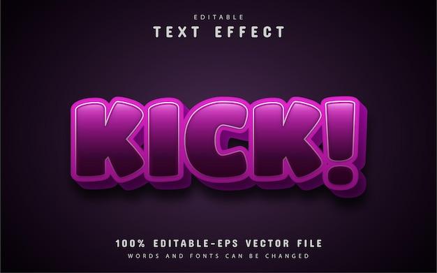 Kopnięcie stylu cartoon efekt tekstu