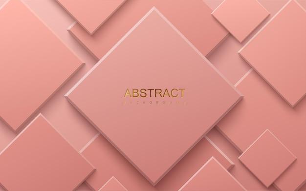Koralowe Różowe Tło Geometryczne Premium Wektorów