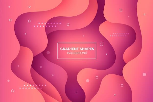 Koralowe tło kształtów gradientu