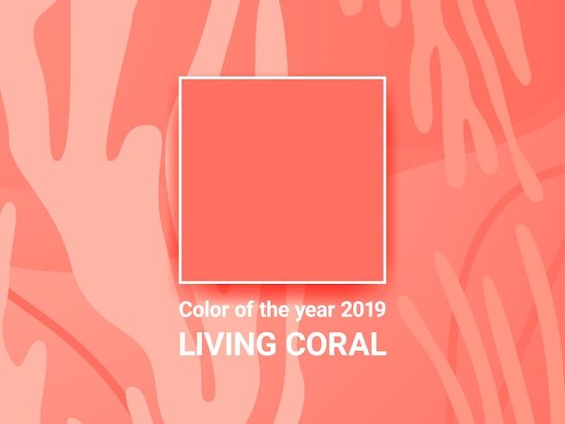 Koralowy tło
