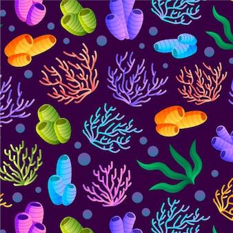 Koralowy wzór