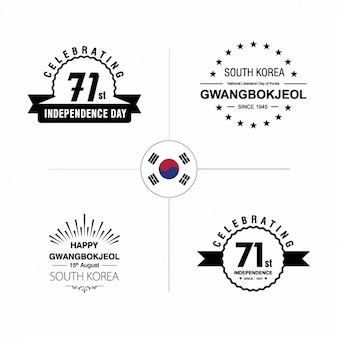 Korea independence day odznaki