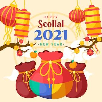 Koreański nowy rok wyciągnąć rękę
