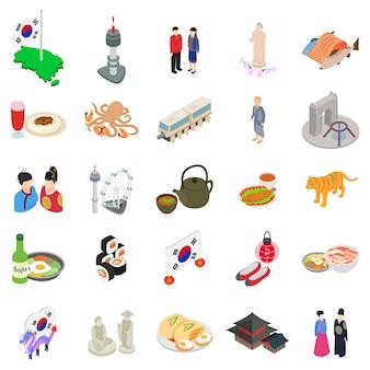 Koreański zestaw ikon
