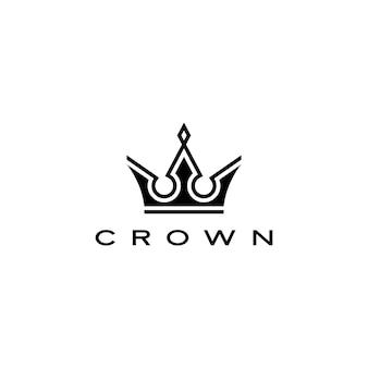 Korona ikona ilustracja logo