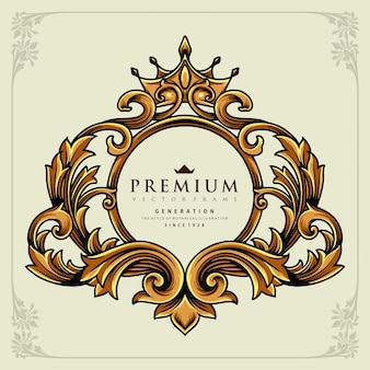 Korona kaligrafia kwiecisty luksusowe ilustracje wektorowe do pracy logo, koszulka towar maskotka, naklejki i wzory etykiet, plakat, kartki okolicznościowe reklama firmy lub marki.