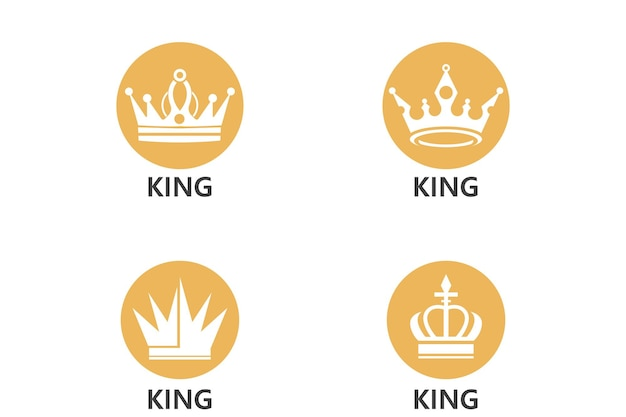 Korona logo szablon wektor ikona ilustracja projekt
