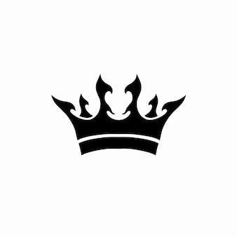 Korona symbol logo tatuaż szablon projektu ilustracja wektorowa