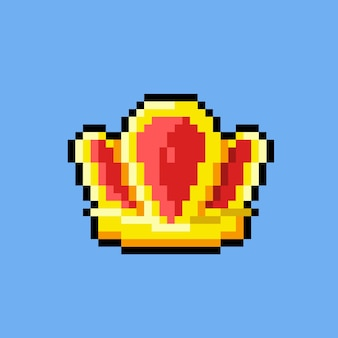 Korona w stylu pixel art