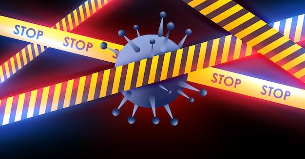 Koronawirus 2019-ncov i tło wirusa z komórkami chorobowymi. covid-19 wybuch wirusa koronawirusa i koncepcja pandemicznego medycznego ryzyka zdrowotnego.