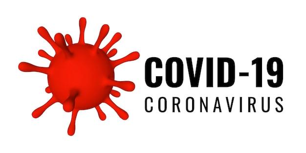 Koronawirus (covid-19 . 3d ilustracja jednostki wirusa. światowa koncepcja pandemii.