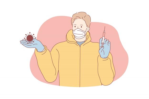 Koronawirus, szczepionka, pojęcie opieki zdrowotnej