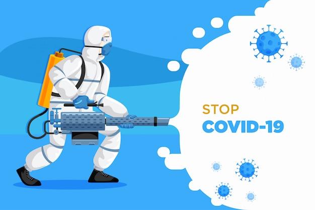 Koronawirus walczący z covid19