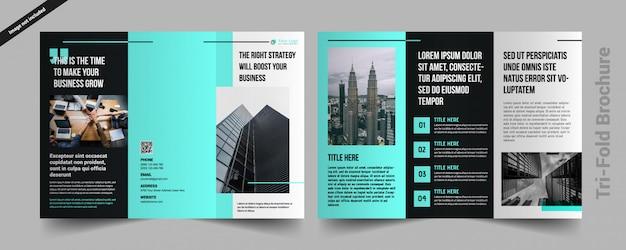 Korporacyjna broszura składana