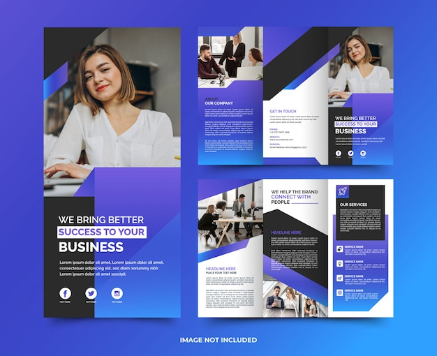 Korporacyjna minimalistyczna nowoczesna uniwersalna broszura biznesowa premium tamplate
