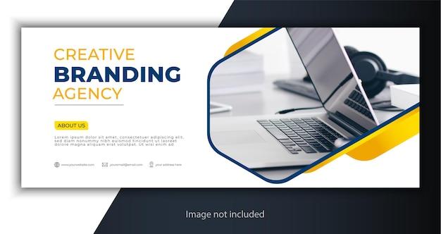 Korporacyjna okładka lub szablon banera internetowego